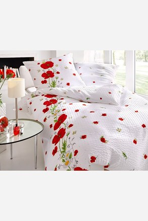 Krepové obliečky Red Poppy