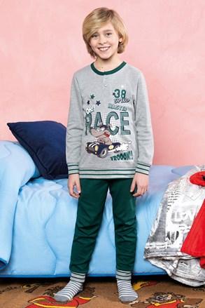 Chlapčenské pyžamo Race zelené