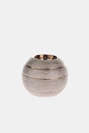 Kerámia gyertyatartó, gömb alakú