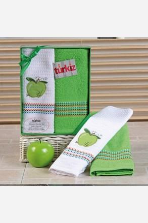 Darčeková súprava uteráka a utierky Mimosa jablko