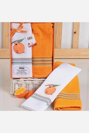 Darčeková súprava uteráka a utierky Mimosa pomaranč