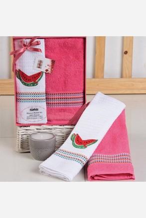 Darčeková súprava uteráka a utierky Mimosa melón