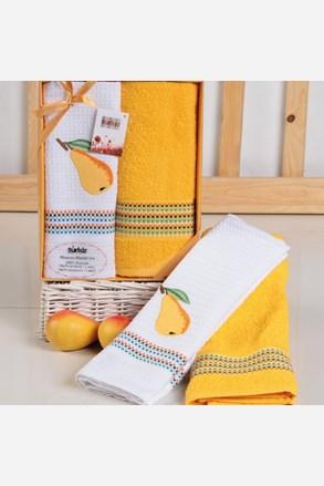Darčeková súprava uteráka a utierky Mimosa hruška