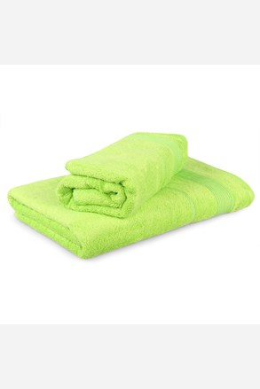 Súprava 2 bambusových uterákov Moreno – limetkový