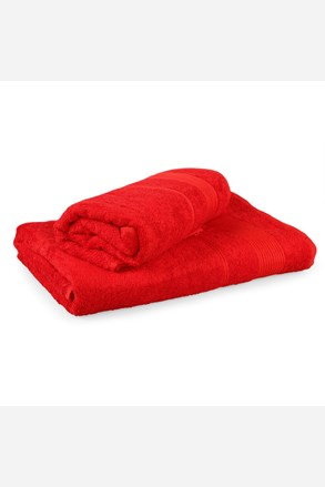 Súprava 2 bambusových uterákov Moreno červený