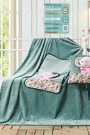 Detský vankúšik a deka v 1 Slon