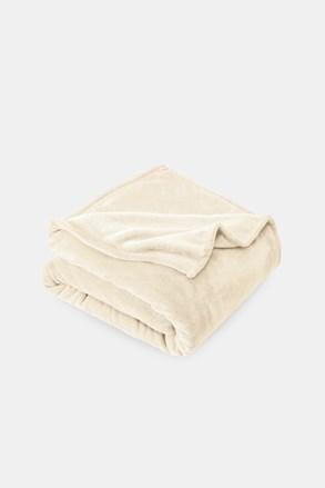 Mikroplyšová deka smotanová