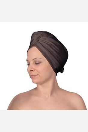 Turban na vlasy sivý