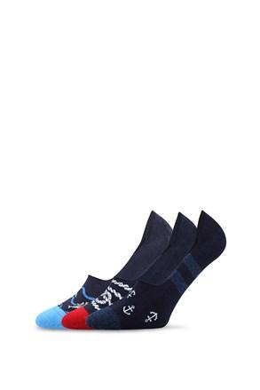 3 pack ponožiek do mokasín Vorty
