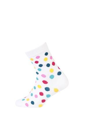 Detské hladké ponožky farebné bodky