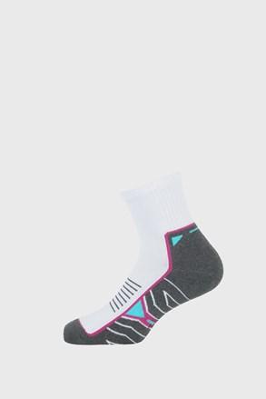 Dievčenské športové ponožky Active sivo-biele