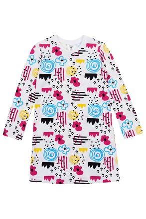Dievčenská nočná košeľa Flowers