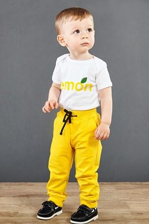 Dievčenské tepláky žlté