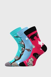 3 PACK dievčenských ponožiek Animals