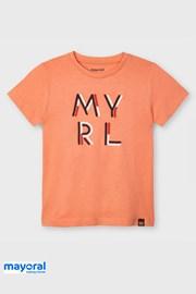 Dievčenské tričko Mayoral Apricot