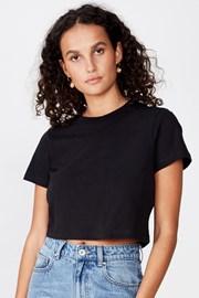 Dámske basic tričko s krátkym rukávom Baby čierne