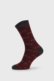 Červené ponožky Fantasy Winter