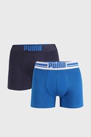 2 PACK modrých boxeriek Puma Placed Logo