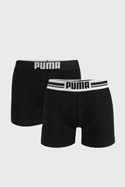 2 PACK čiernych boxeriek Puma Placed Logo