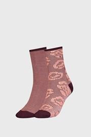 2 PACK dámskych hnedých ponožiek Tommy Hilfinger Flower