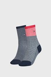 2 PACK dámskych ponožiek Tommy Hilfiger Argyle I