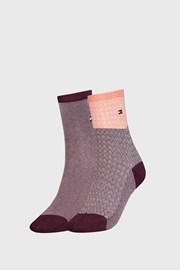 2 PACK dámskych ponožiek Tommy Hilfiger Argyle II