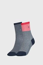 2 PACK dámskych ponožiek Tommy Hilfiger Argyle III