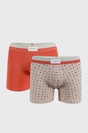 2 PACK oranžovo-béžových boxeriek Marks