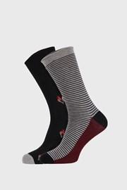 2 PACK pánskych vzorovaných ponožiek FANTASY čierne