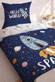 Chlapčenské obliečky svietiace v tme Space