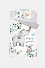 Bambusz ágyneműhuzat kiságyba Happy Animals