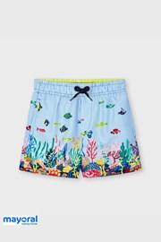 Chlapčenské plavkové šortky Mayoral Ocean