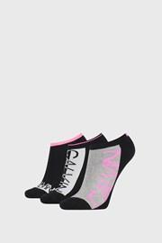 3 PACK dámskych ponožiek Calvin Klein Nola čierne