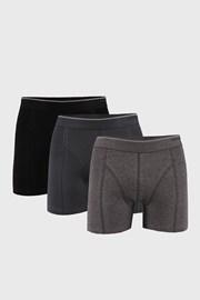 3 PACK čierno-sivých boxeriek Tender cotton