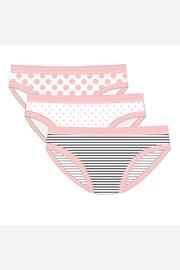 3 PACK dievčenských nohavičiek Pink Line