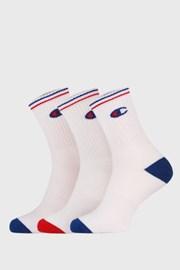 3 pack bielych vyšších ponožiek Champion Crew
