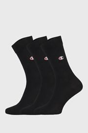 3 pack vysokých čiernych ponožiek Champion