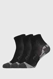 3 PACK čiernych ponožiek FILA Multisport
