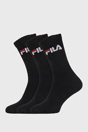 3 pack čiernych vysokých ponožiek FILA