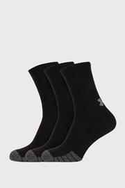 3 PACK vysokých čiernych ponožiek Under Armour