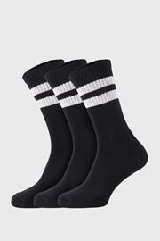 3 PACK čiernych ponožiek Active