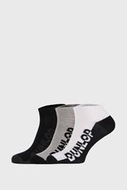 3 PACK čiernošedých ponožiek Dunlop