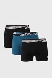 3 PACK modro-čiernych boxeriek Umbro