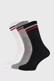 3 PACK vysokých ponožiek Sports