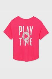 Dievčenské tričko Mayoral Playtime ružové