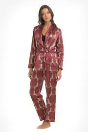 Saténové pyžamo Leopard