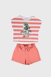 Komplet dievčenského trička a šortiek Mayoral Summer Vibes