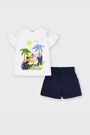Komplet dievčenského trička a šortiek Mayoral Aloha