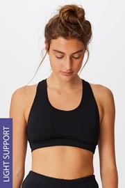 Športová podprsenka Workout Crop čierna