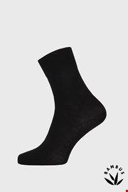Čierne bambusové ponožky vysoké